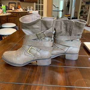 JustFab taupe Ankle boots